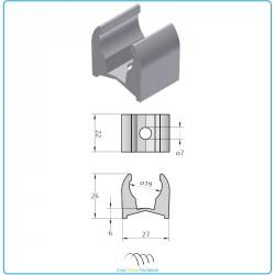 Etrier aluminium