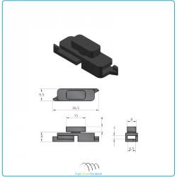 guide câble pour profil