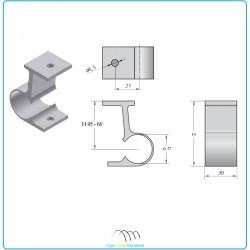Collier de serrage Ø27/H45